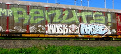 renut - musk - phaze (timetomakethepasta) Tags: mr renuts musk phaze freight train graffiti art autorack benching selkirk new york photography bay ttx