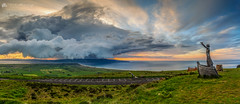 Storm Clouds Over Donegal Panorama. (MNM Photography 2014) Tags: storm stormclouds threateningskies storms shelfcloud thunderstorm weather cloudy cloudysky cloudyskies manannánmaclir statue sculpture thecelticgodofthesea sky gortmoreviewingpointlimavadyulsternorthernireland gortmore panorama panoramic sunset northcoast magilligan magilliganpoint limavady thelimavadyexploreseedosculpturetrail loughfoyle lough benone benonebeach binevenagh binevenaghmountain benevenagh benevenaghmountain northernireland ulster inishowen donegal donegalhills seascape canon canon5dmkiii canon1740f4lusm leefilters leelandscapepolarisingfilter graduatedfilter uk ireland