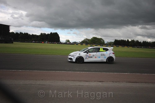 Kyle Hornby in the Renault Clio Cup during the BTCC weekend at Croft, June 2017