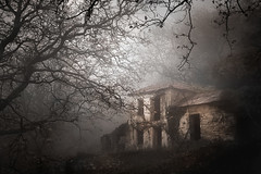 Once upon a time (ilias varelas) Tags: fog forest greece nature mood mist house ilias light landscape land atmosphere mystery old