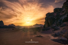 Special sunset in the Red Desert of Jordan DSC6661 (joana dueñas) Tags: sunset joanadueñas photofeeling landscape desert reddesert jordan rocks sand sandpatterns spring sky clouds
