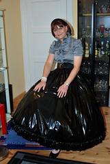 black latex skirt (Marie-Christine.TV) Tags: black latex skirt enourmous petticoat clothes pictures lackrock