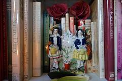 Two Flower Sellers (Celeste33) Tags: staffordshirefigure twoflowersellers flowers gardening books pottery ceramic stafforshire 1850 1860