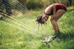 Happy first day of summer (Elizabeth Sallee Bauer) Tags: nature active backyard boy child childhood children coolingoff fun girl green kid kids natural outdoors outside playing sprinkler summer swimming together water wet