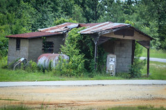Old filling station - Elberton, Ga. (DT's Photo Site - Anderson S.C.) Tags: canon 6d 24105mml lens elberton georgia old gasoline pump filling station abandoned fading rural vanishing southern landscape southernlife