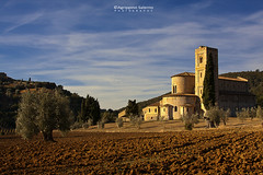 Abbey of Sant'Antimo (Agrippino Salerno) Tags: abbaziadisantimo abbey tuscany italy ancient agrippinosalerno canon manfrotto sky clouds church tree travel beautiful