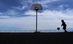 Ball (Danny VB) Tags: basket basketball ball play playing action silhouette boy panier ocean atlantic gaspésie québec canada canon m10 canoneosm10 canonm10 summer été efm1545mmf3563isstm canonefm1545mmf3563isstm