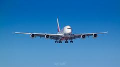 Airbus A380 Emirates (piotrkalba) Tags: emirates airbus a380 warsaw warszawa chopinairport