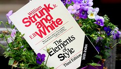 It's the little things... like Strunk and White (Kerri Lee Smith) Tags: strunkandwhite books grammar violas flowers spring plants itsthelittlethings theelementsofstyle