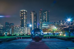 Tokyo ball (David S.M.) Tags: tokyo japan city cityscape asia night nightscape travel building skyscrapers river lights ball sonya7 canon24105mmf4 greatphotographers