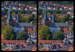Wernigerode town view 3-D / Stereoscopy / CrossView / HDR / Raw (Stereotron) Tags: sachsenanhalt saxonyanhalt ostfalen harz mountains gebirge ostfalia hardt hart hercynia harzgau wernigerode architecture fachwerk halftimbered house stud work antiquated ancient medieval middleages europe germany crosseye crosseyed crossview xview cross eye pair freeview sidebyside sbs kreuzblick 3d 3dphoto 3dstereo 3rddimension spatial stereo stereo3d stereophoto stereophotography stereoscopic stereoscopy stereotron threedimensional stereoview stereophotomaker stereophotograph 3dpicture 3dglasses 3dimage hyperstereo twin canon eos 550d yongnuo radio transmitter remote control synchron kitlens 1855mm tonemapping hdr hdri raw