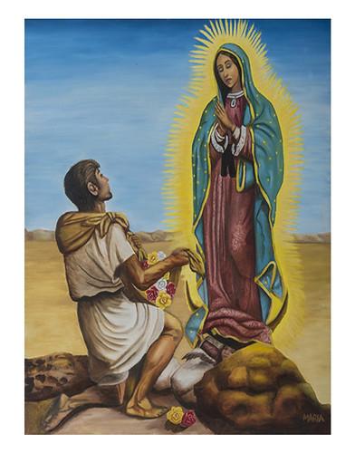 Autor: MA SOCORRO JUAREZ PEÑUELAS, Virgen de Guadalupe  80x60 cm