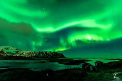 Tema Foto Lofoten Timelapse dag 1 visning-154 (Tor Magnus Anfinsen) Tags: aurora northern light norway norge lofoten water green reflection snow