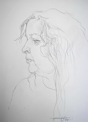 P1016449 (Gasheh) Tags: art painting drawing sketch portrait woman line pencil gasheh 2017