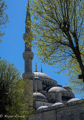 Turkey Istanbul ( side photograph of the Blue Mosque) (bryanasmar) Tags: minarets turkey istanbul blue mosque sultan ahmet camii fuji xt20 xf3514