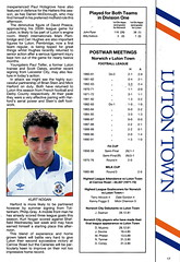 Norwich City vs Luton Town - 1991 - Page 17 (The Sky Strikers) Tags: norwich city luton town barclays league division one carrow road official matchday programme pound twenty