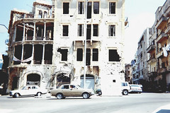 Beirut (PokemonaDeChroma) Tags: analog film beyrouth beirut yellowhouse barakatbuilding olympus بيروت liban lebanon ruin war