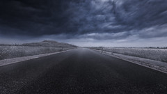 Cold Way Home (patrickmai875) Tags: cold kalt blue blau nature natur wolken clouds streets strase black schwarz weis fantasy canon 5d mark iv sigma art kunst 1224mm surreal