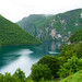 Beautiful view on Piva river in Montenegro