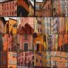 Colours of Italy (Mimi_K) Tags: italy bologna modena yellow orange streetscapes mosaic collage