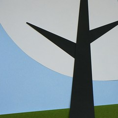 lunch outside (Sara Cunha) Tags: wip paper papercut origamipaper mujiorigamipaper colours silhouette tree