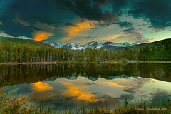 JM_RockyMT_05_31_17_200 (HarrySchue) Tags: nationalparks rockymtnationalpark sprague lake reflections sunset nature mountains clouds nikon d800e really right stuff