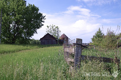 Abandoned Farm (Something Wild Photography) Tags: abandoned farm farmer farms farming old barn barns barnwood country rural landscape fence dilapidated decay decayed decaying silo silos corncrib rust rusty rustic