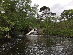 Exploring the river (What I saw...) Tags: loch arkaig highlands scotland canoe camping wildcamping hou open river waterfall