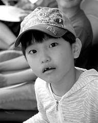 surprised (bitres) Tags: kid boy face portrait black white blackwhite desaturation