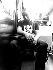 Grosse fatigue (nic0v0dka) Tags: fatigue noir métro metrop black tired city paris france