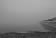 toronto in the mist (armykat) Tags: torontoontariocanada springshenanigansintoronto fog tortontobeaches rcharriswatertreatmentplant lakeontario
