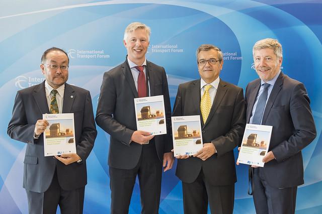 Mac Urata, Anders Kellström, José Viegas and Christian Labrot presenting the new report