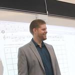 Dr. Perttu teaching a class.