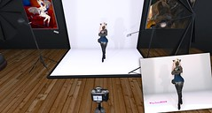 In Studio, Behind-the-Scenes Photoshoot 2 (♥ Foxy Couture) Tags: foxy couture fashion asteria ribbon photo photography sexy second life fur furry raven reign exxess candy doll candydoll aii ugly beautiful dark spot designs dsd timber wilds industries twi timberwilds maitreya