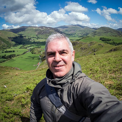 Me, Myself and I (Howie Mudge LRPS BPE1*) Tags: me myself selfie selfportrait man landscape nature sky clouds grass fields hills mountains outside outdoors scene scenery scenic vista samyang fisheye gwynedd wales cymru uk olympus microfourthirds mft m43 compactsystemcamera mirrorlesscamera