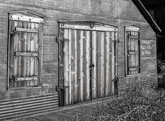 Fresh Fruits & Vegetables (maytag97) Tags: maytag97 silver city idaho rustic rural fall season bw blackandwhite texture contrast building outdoor wood door shutter old history house abstract travel brown vintage architecture antique tourism structure gray rough town weathered aging western ghost oregon