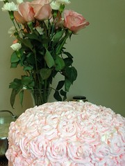 vanilla rasberry cake with whipped cream roses (amruta.ad) Tags: cake spring easter birthday