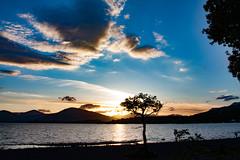 Lochlomond  (1 of 1) (Stu 71) Tags: sunset lochlomond clouds light loch water sky