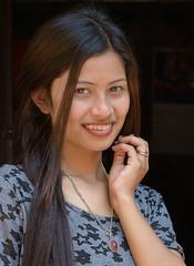 Saru (In Iceland now, back 5th august) Tags: nepal nepali nepaligirl portrait smile ivodedecker travel kathmandu