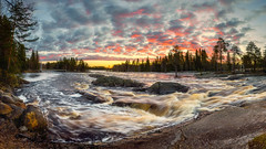 Summer has arrived in the North, Welcome light! (M.T.L Photography) Tags: landscape panorama sunrise river water riverkiiminkijoki trees night clouds finland early mtlphotography mikkoleinonen copyright nikond810 nikkor1424 bravo