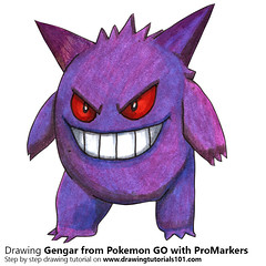Gengar from Pokemon GO with ProMarkers [Speed Drawing] (drawingtutorials101.com) Tags: gengar pokemon go pokémon video games augmented niantic dennis hwang junichi masuda promarkers promarker alcohol markers color colors coloring draw drawing drawings how timelapse