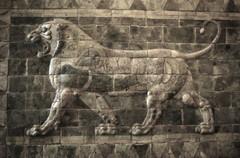 Lion au Louvre. (phonia20) Tags: lion pierre relief louvre antiquité art ancien mur géométrie pentax k10d