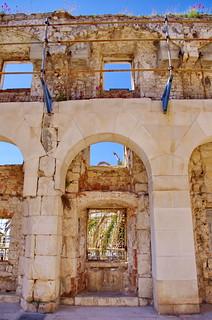 86 - Split, Croatie, Mai 2017 - le mur d'enceinte du palais de Dioclétien dans la vieille ville