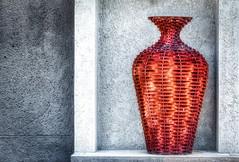 Decorative Vase (Daniela 59) Tags: 100x2017 100xthe2017edition image54100 theworldaroundme vase decoration rusty rustymetal concrete textures texturaltuesday htt daanviljoengamepark wall danielaruppel
