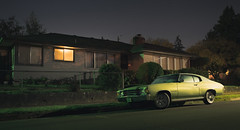 Pure Muscle (C A Soukup) Tags: pdx portland chevelle chevrolet cinema cinematic nighphotography noir