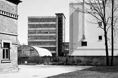 Structures (MarxschisM) Tags: latvia bw riga architecture structure building