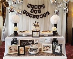 First Birthday: Black + White Twinkle (nspired events) Tags: select firstbirthday dol doljanchi koreanfirstbirthday blackandwhite twinkle star custompartydecor customtheme modern toronto nspiredevents sariwon
