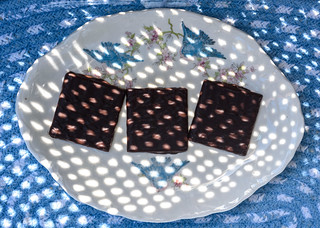 Sun-Dappled Chocolate on  My Little Bluebird Plate