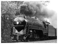 611 (daveelmore) Tags: jclass 611 train locomotive steamengine railroad rr steam steampower virginia va blackwhite bw lumixleicadgmacroelmarit45mm128 norfolkwestern nw