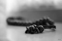 Project 365; #156 (iMalik1) Tags: project 365 days photo day challenge potd still life black white prayer beads rosary tasbih islam muslim faith repentance contemplation rememberance dhikr ramadan praying pray ealing photographer imalik photography london canon eos m3 monochrome monotone